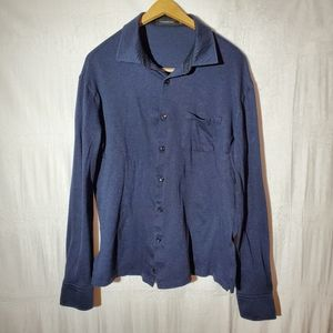 Ermenegildo Zegna Casual Button Up Shirt Blue